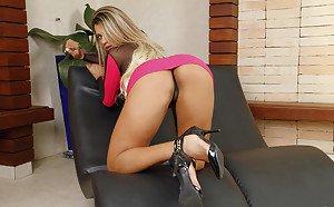 Feel air behind spank