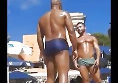 Porn beach the bulge big