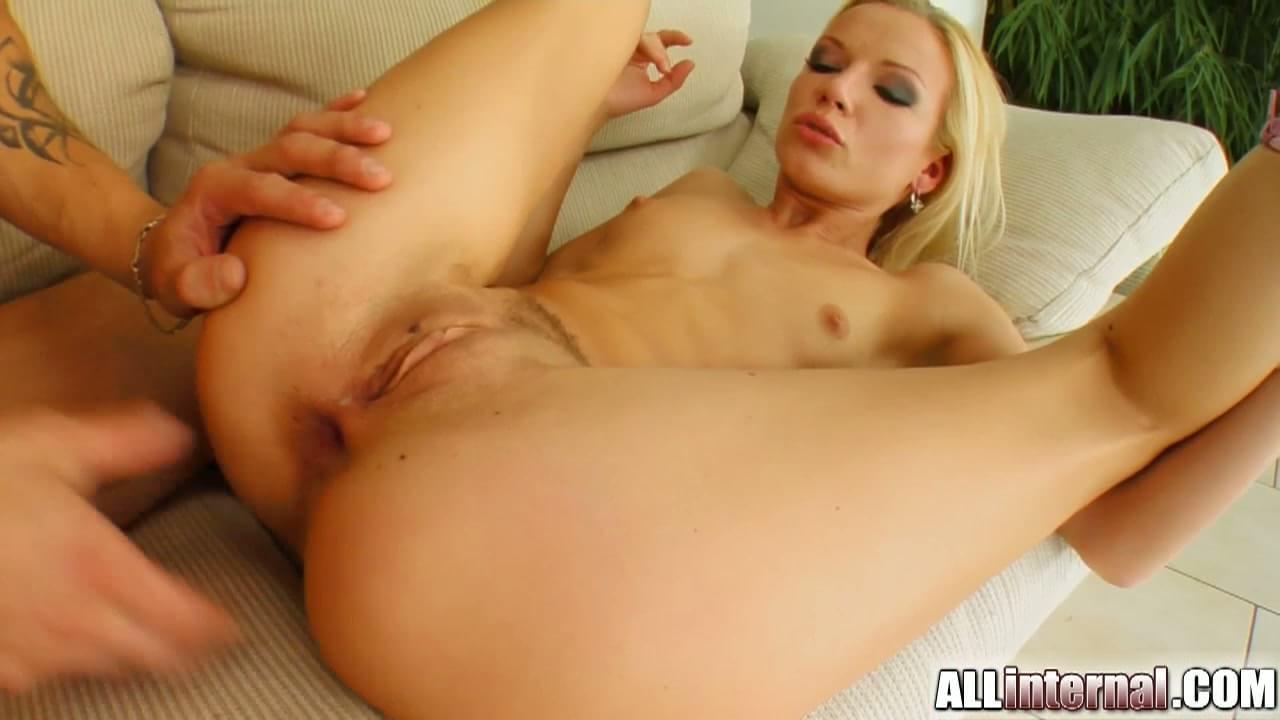 Blonde babe anal creampie
