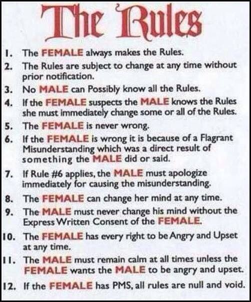 Femdom rules for my husband