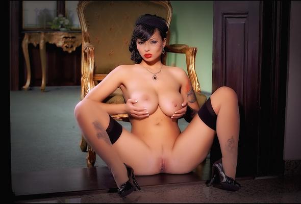 Big tits sexy pussy tattoo