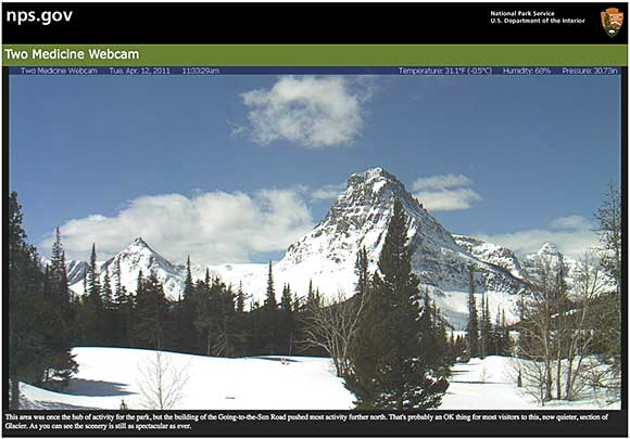 Glacier national park webcams