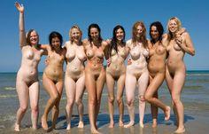 Group of girls beach nude