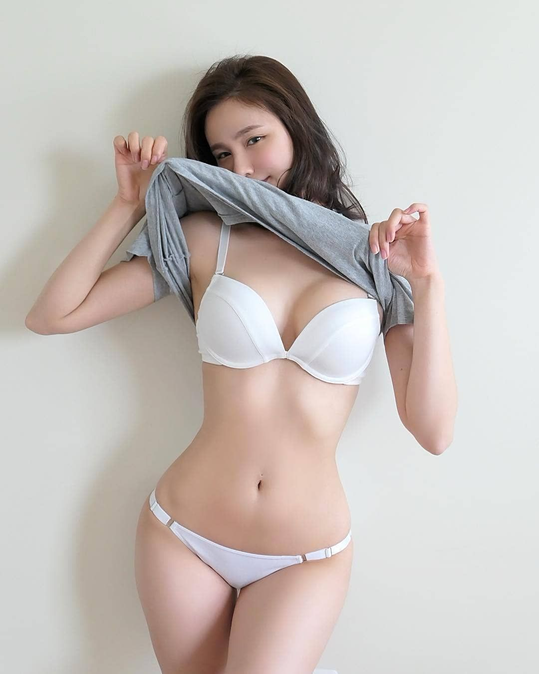 Asian girls wearing thong panties