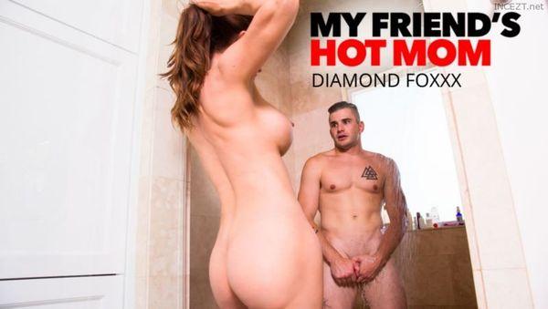 Hot mom fucks sons friend shower