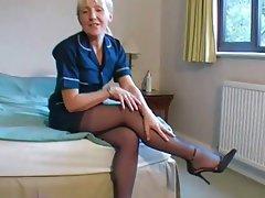 British amateurs wearing stockings