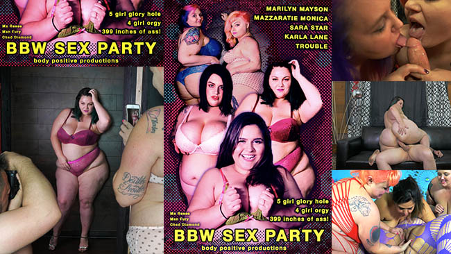 Fat girl orgy sex party