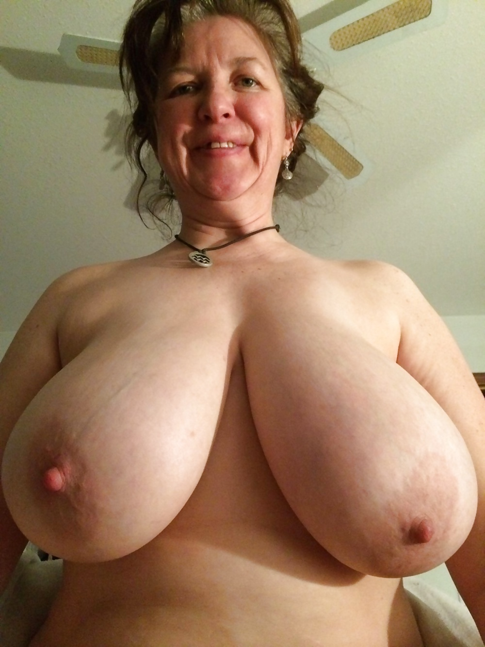 Grandmas big natural boobs