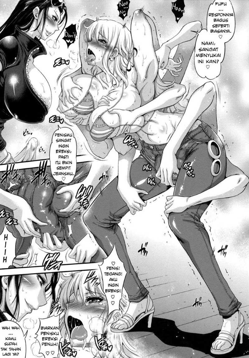One piece hentai lesbian futanari