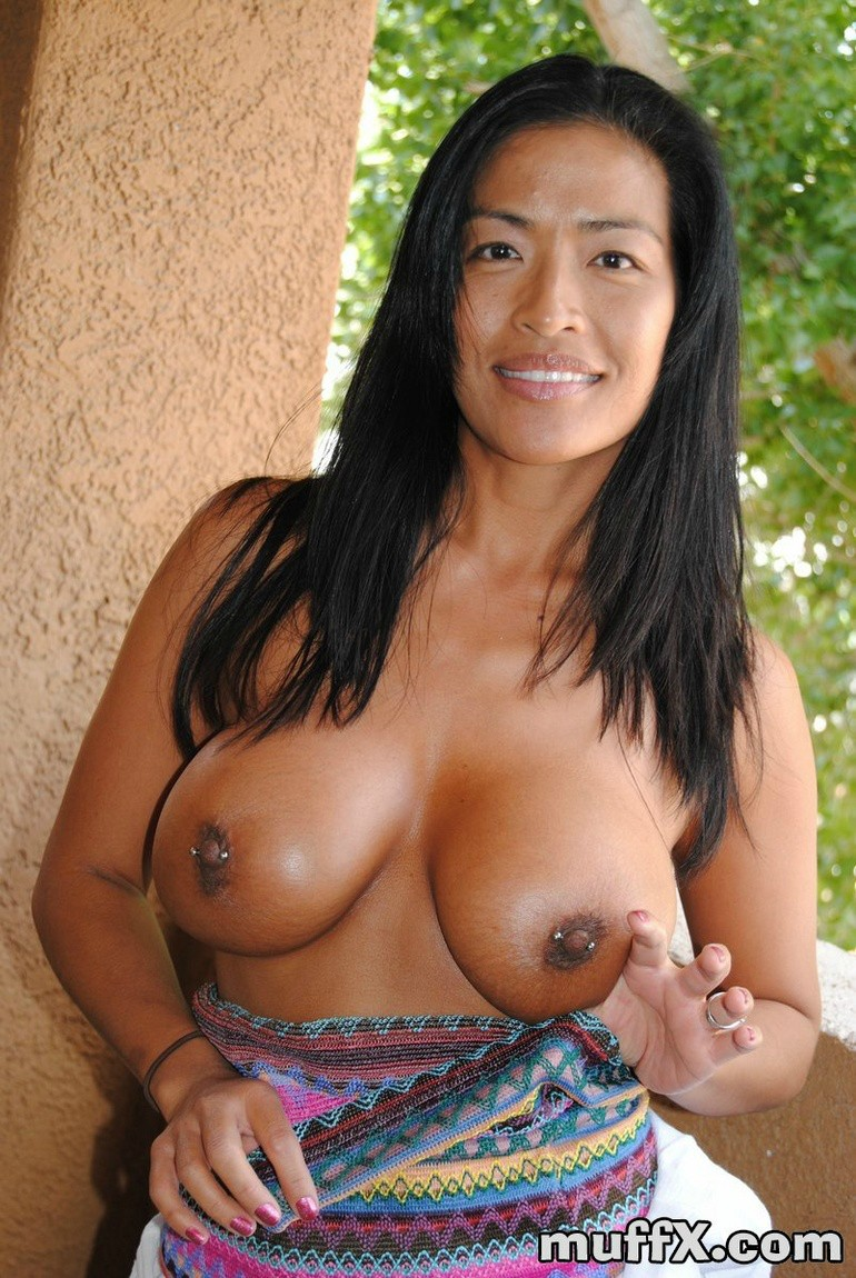 Natural tits asian milf big