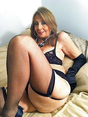 Erotic mature women stockings