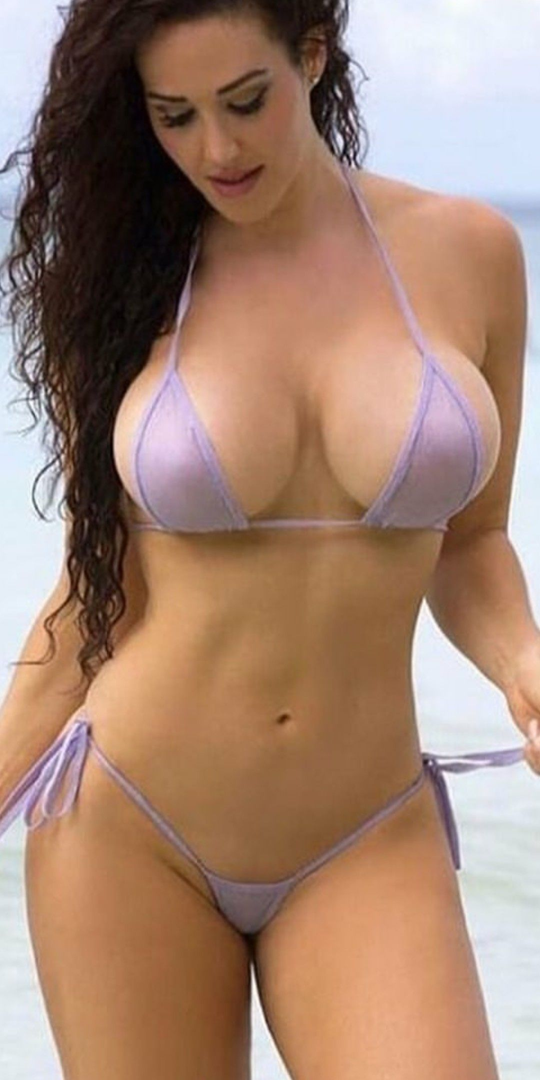 Gorgeous busty wife in bikini