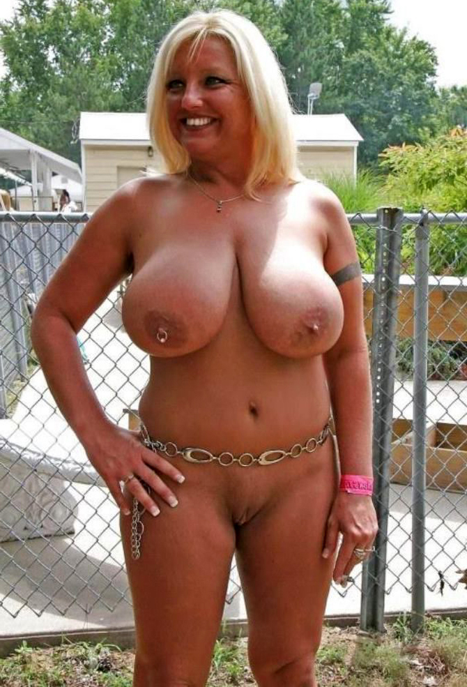 Mature wife with big nipples