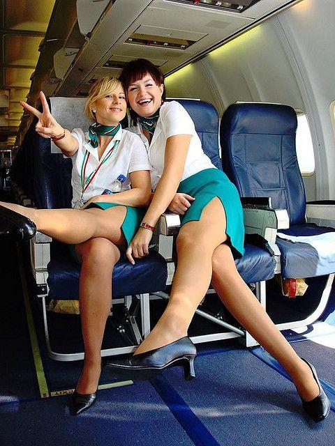 Nude stewardess flight attendant