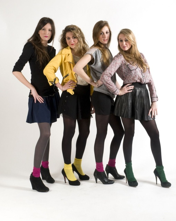 Teen model skirt pantyhose