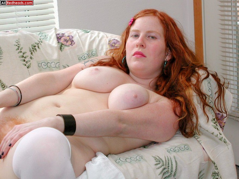 Teen redhead obese naked