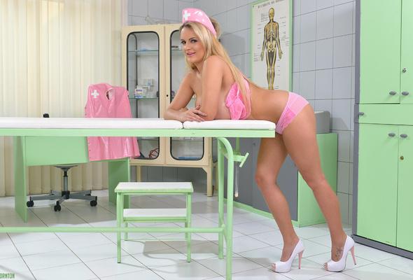 Hot blonde nurse tits