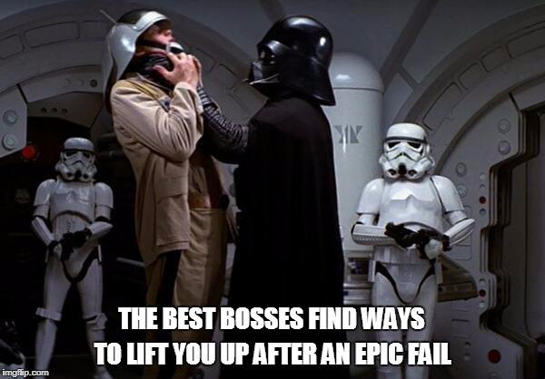 Darth vader epic fail