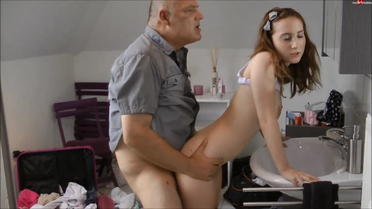 Girl and old men porn