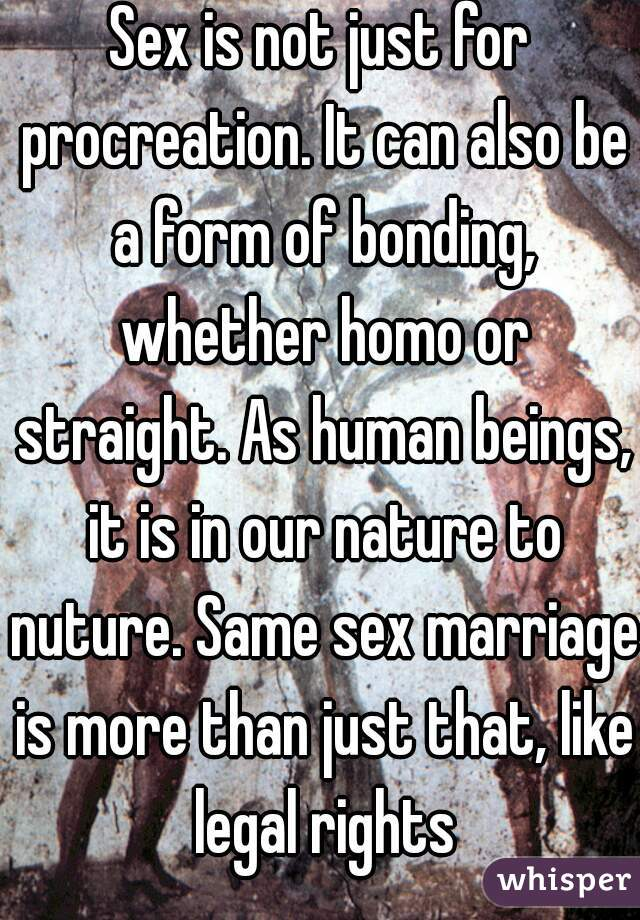 Same sex marriage and procreation