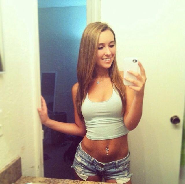 Self shot teen girl selfie
