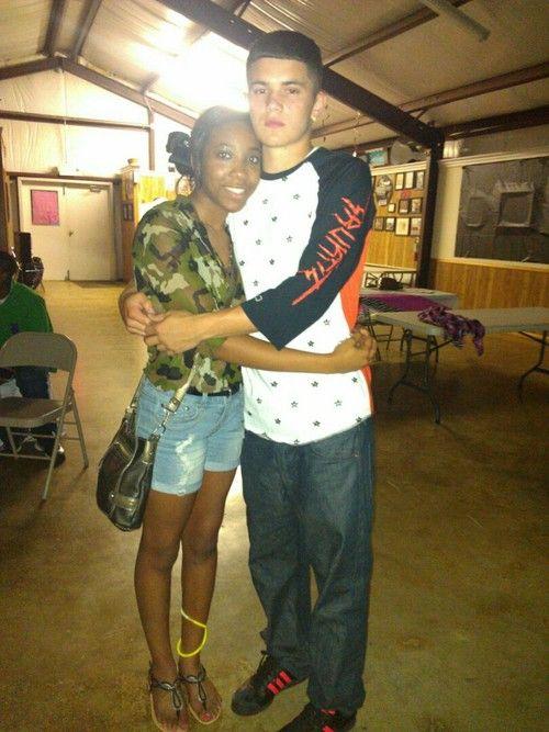 Teen black girl white boy