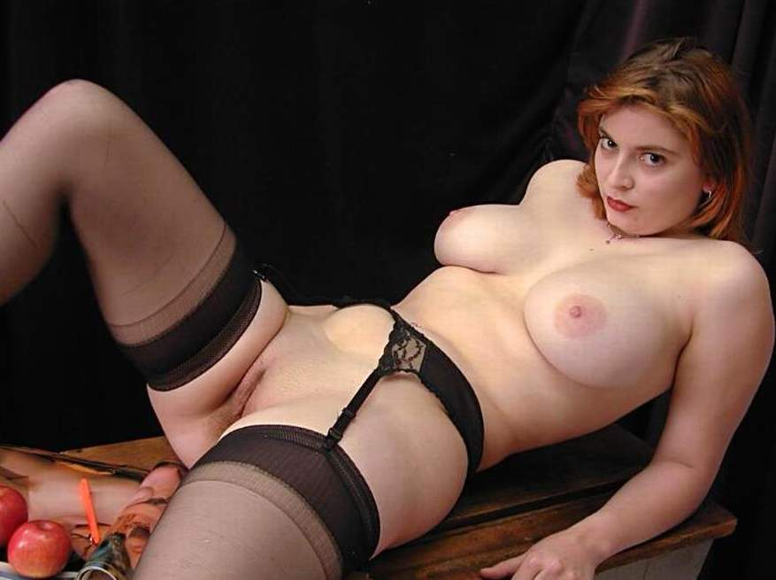 Big girls in stockings naked