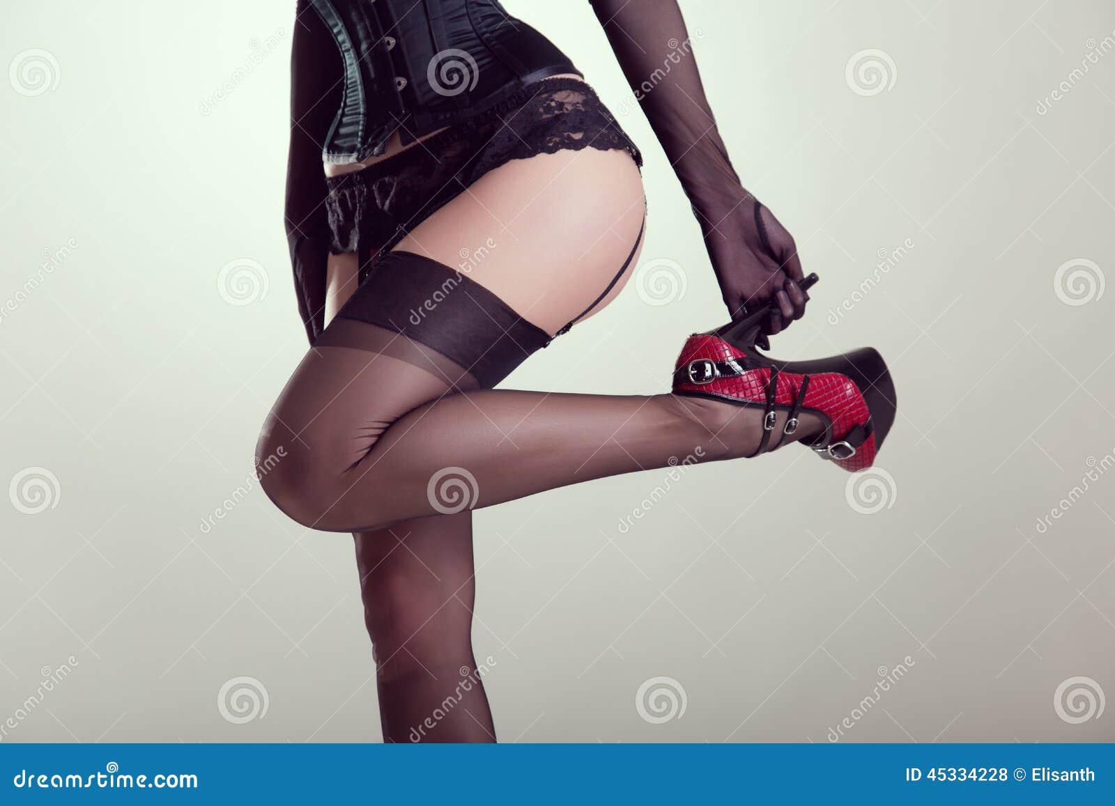 Pin up girls corsets stockings