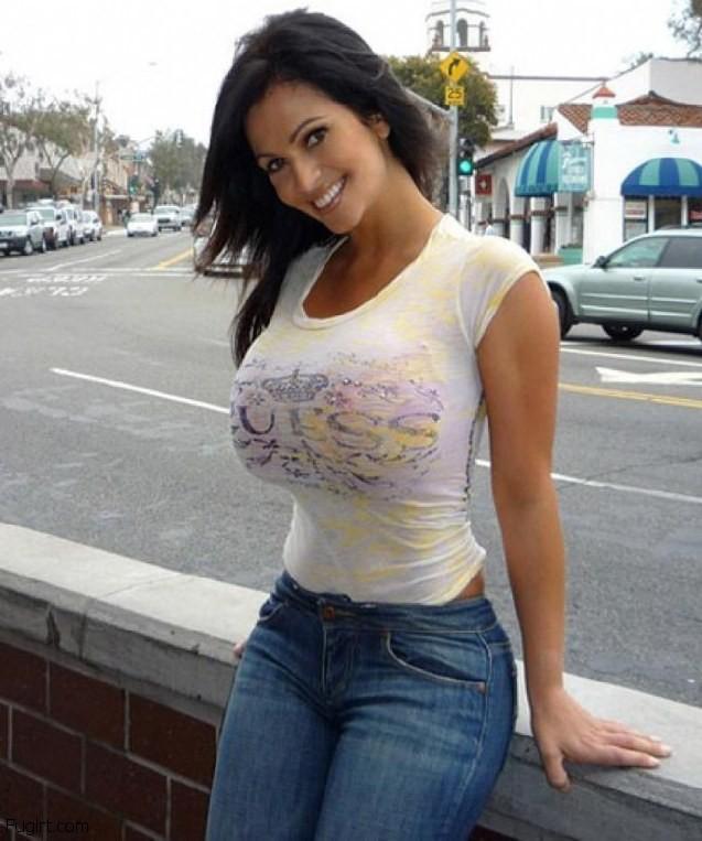 Shirt big tight tits model adult