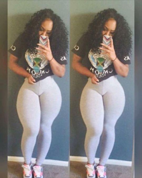 Ebony flat stomach wide hips