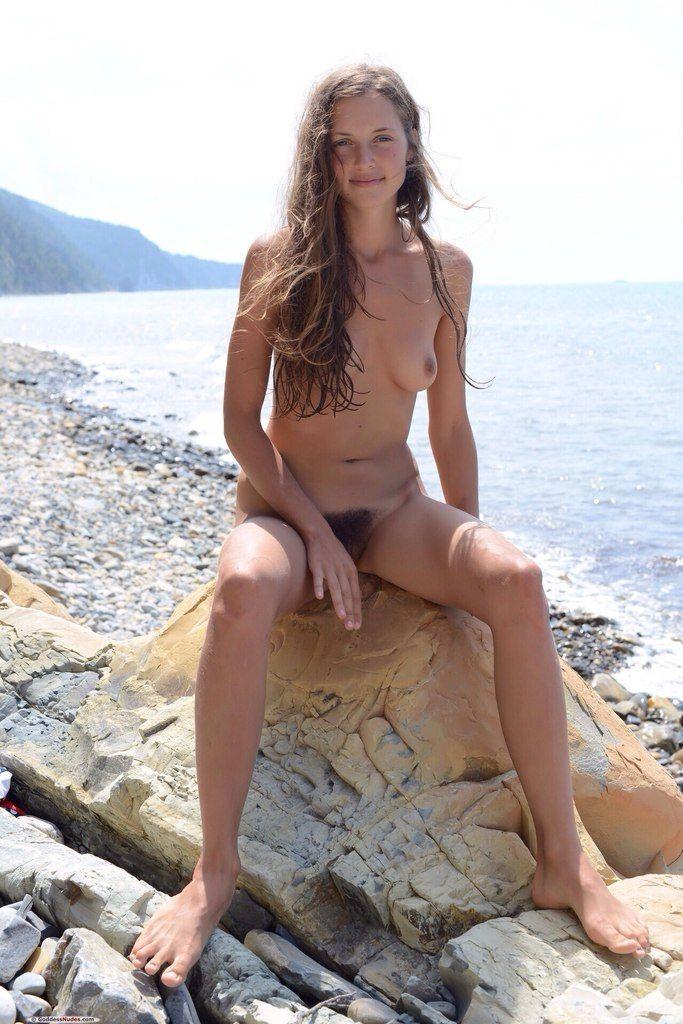 Hairy pussy bikini public beach