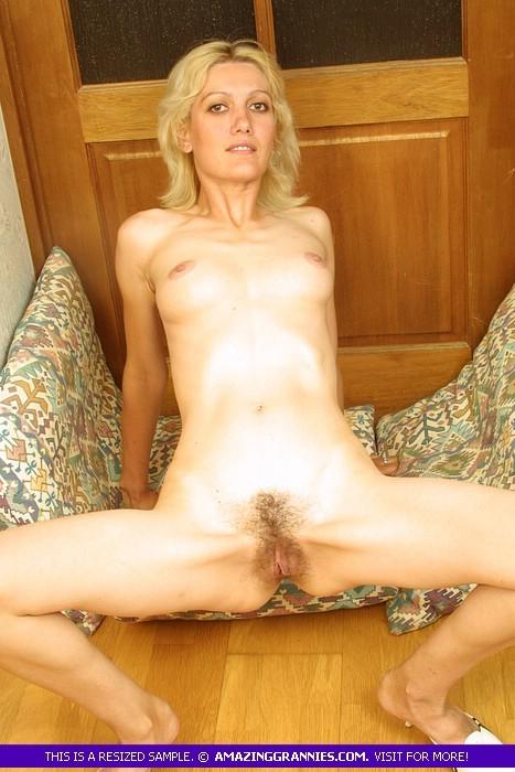 Skinny mature blonde wife