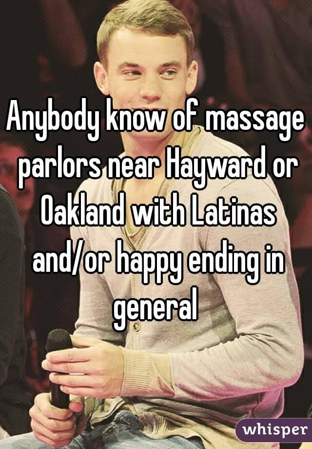 Ending latina massage happy