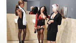High heels double penetration