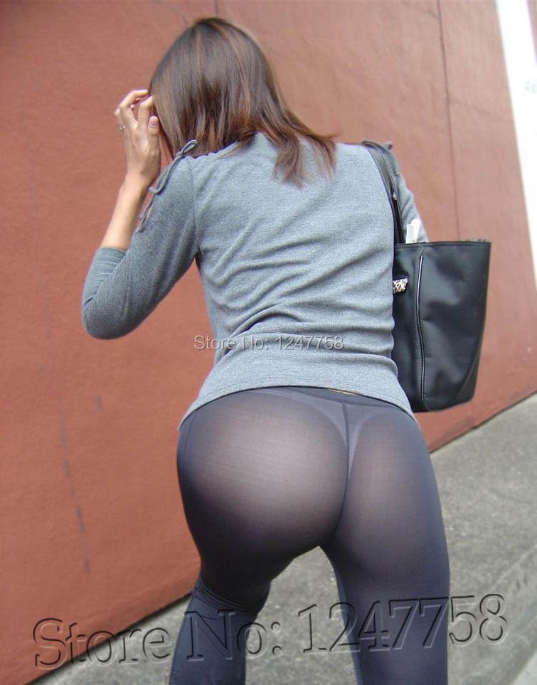 Hot girls yoga pants see through