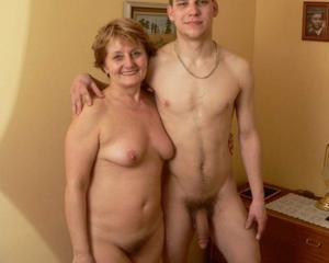 Nude family mom son