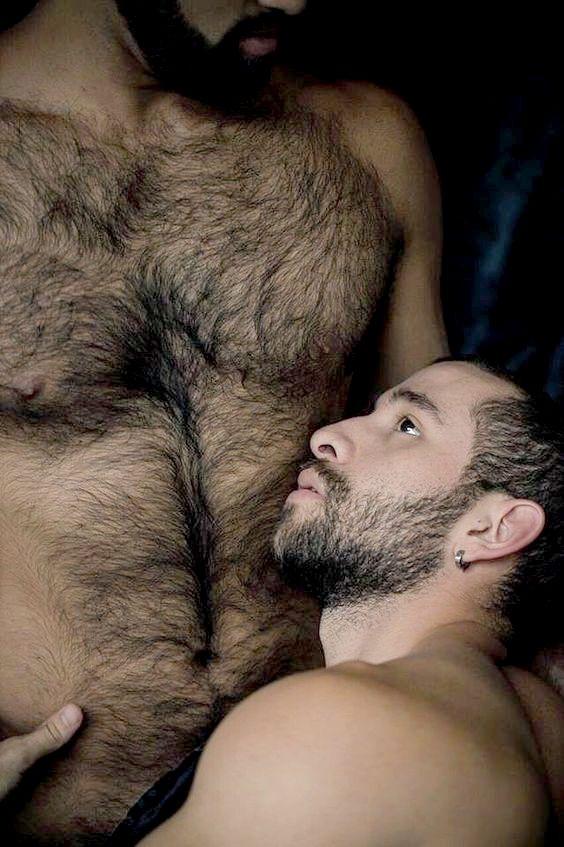 Men kissing black hunks hairy