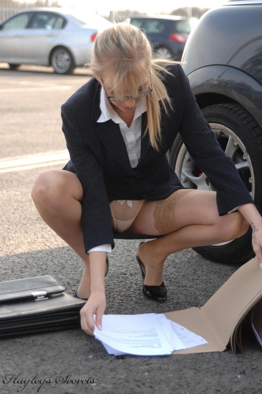 Office upskirt candid secretary