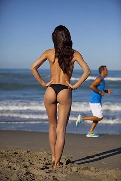 Sexy nude girl on beach
