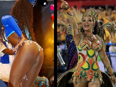 Hot brazilian carnival girls