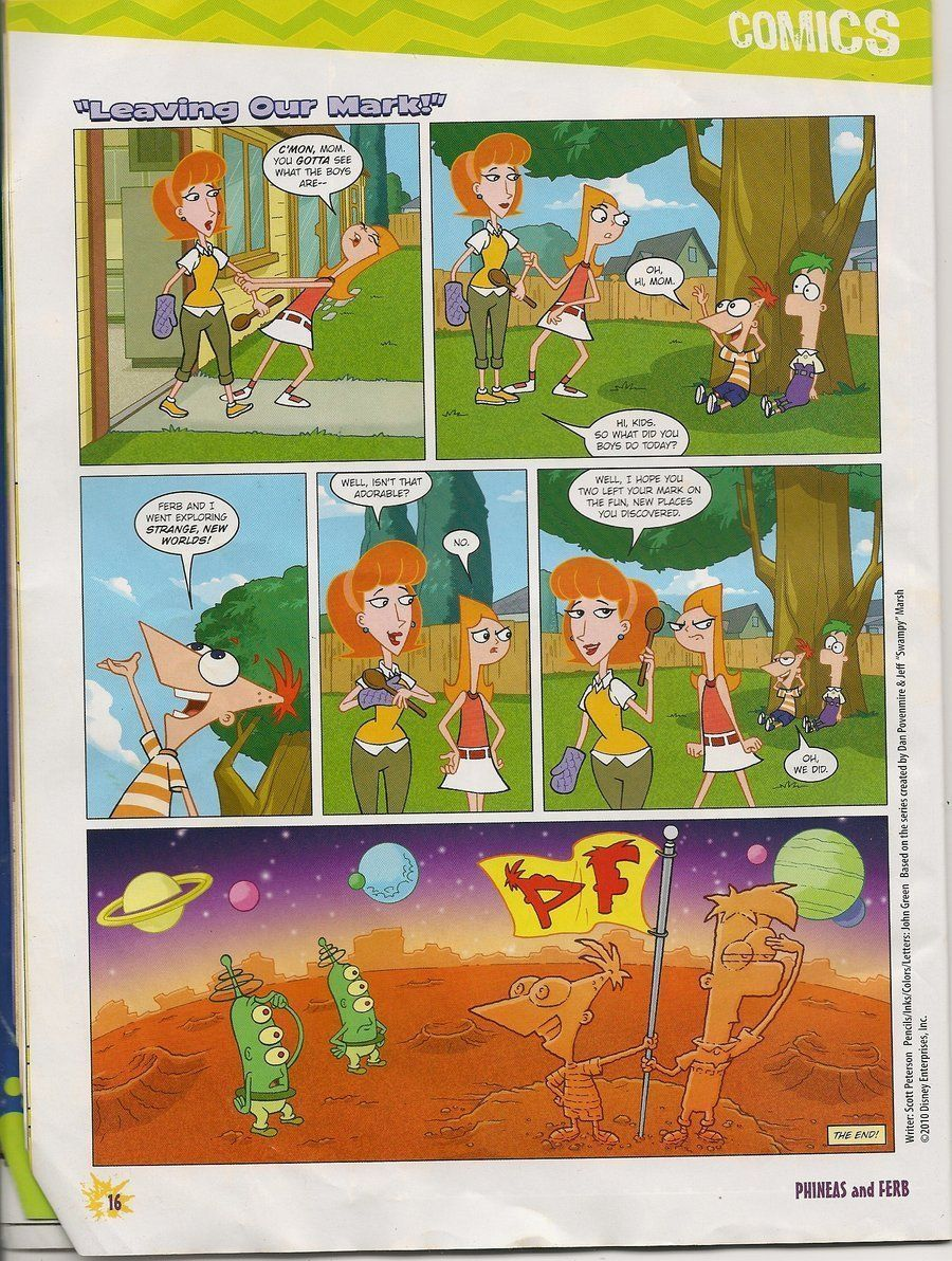 Phineas and ferb sex comic