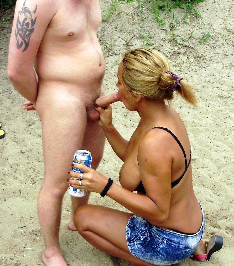 Nude beach sex blowjob