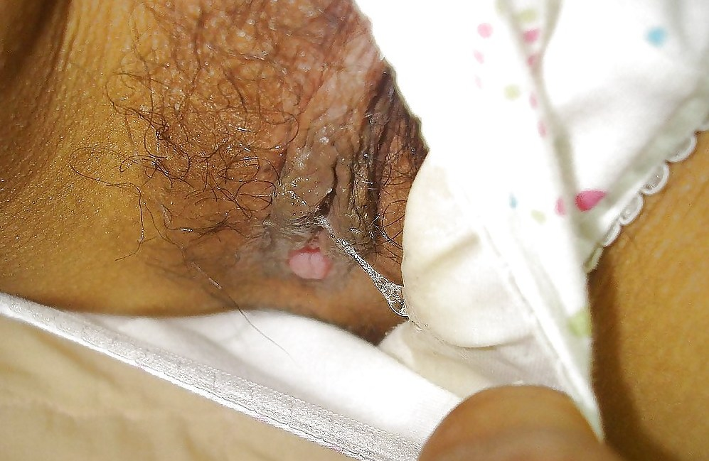 Dirty stained soiled panties wet pussy