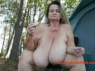 Saggy old breast and big nipples