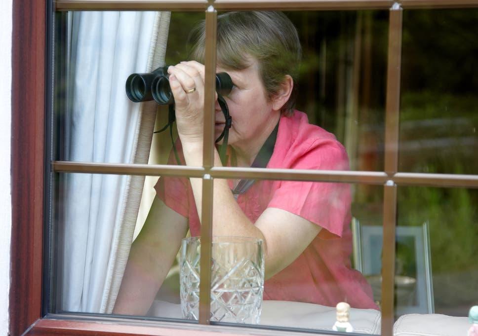 Peeping tom neighbor naked