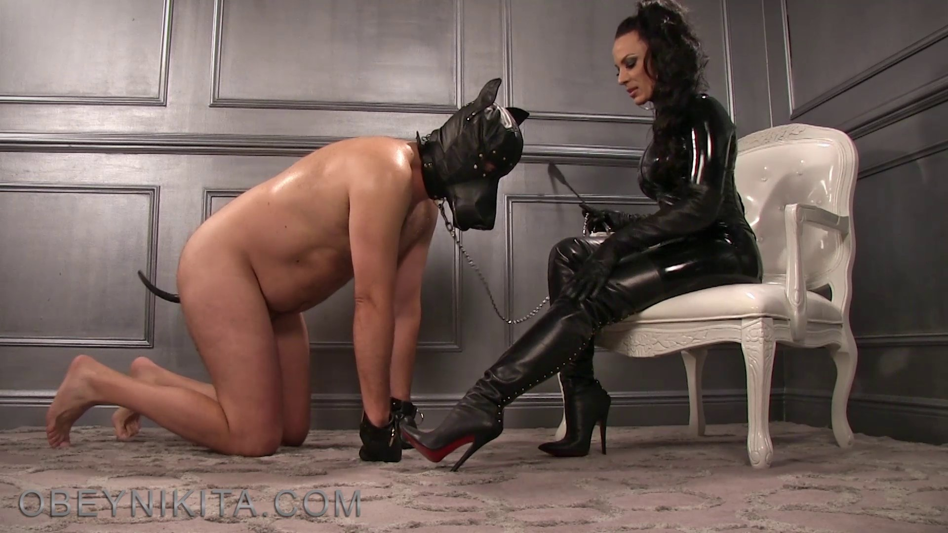 Girl puppy play bdsm