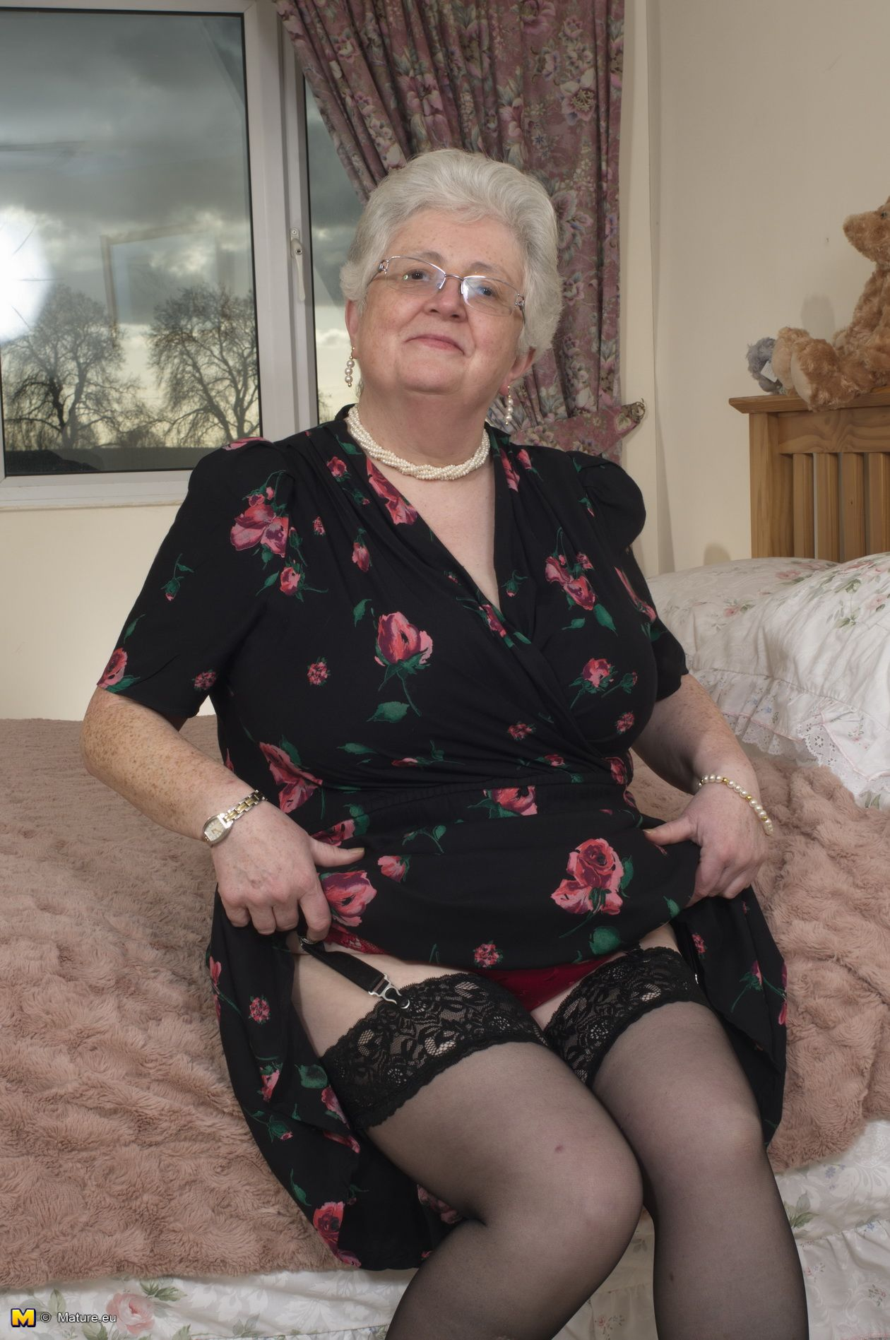 Real naked granny stockings