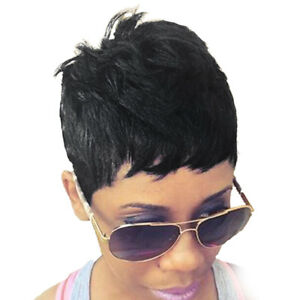 Short natural hair wigs for black women