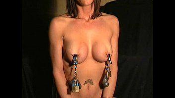 Danielle busty nipple clamps