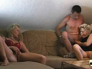 Hot blonde twins fuck